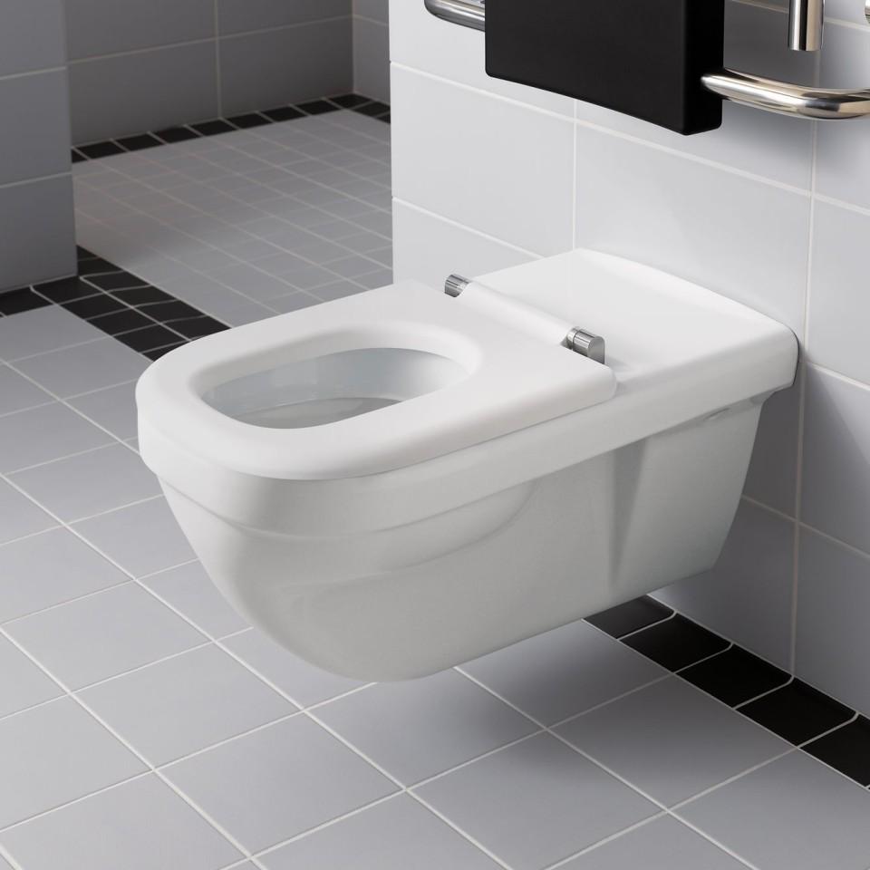 De toiletzitting is ook zonder deksel leverbaar en biedt optimaal zitcomfort.