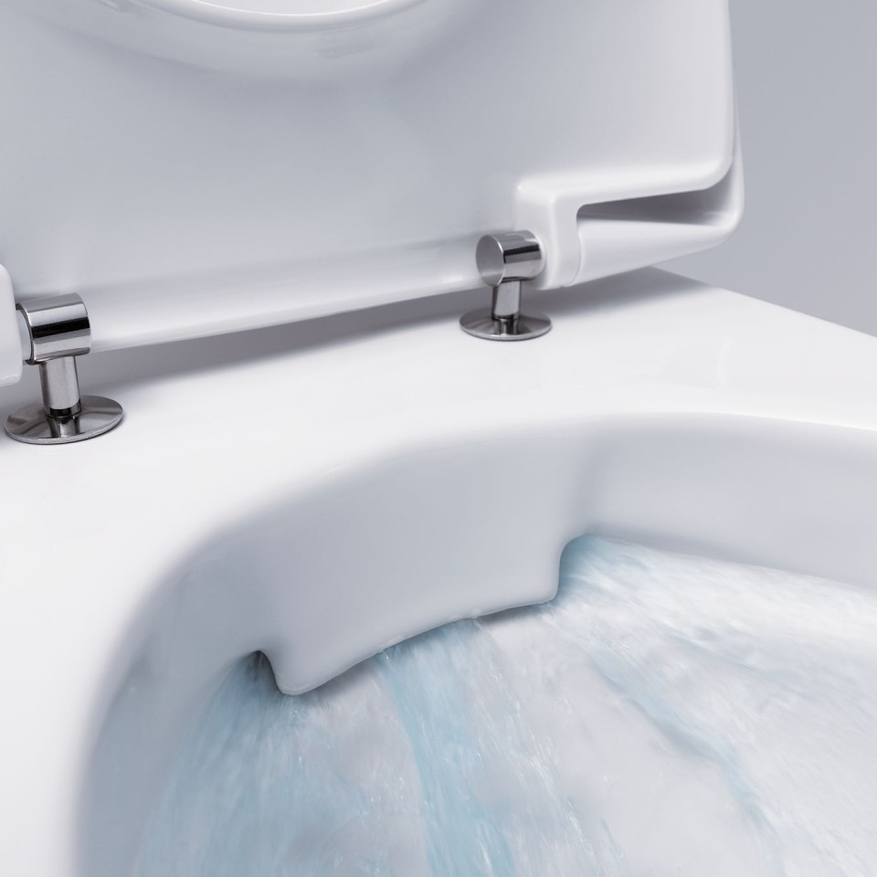 Bij het Rimfree® closet ontbreekt de spoelrand waardoor het schoonmaken een stuk eenvoudiger is.
